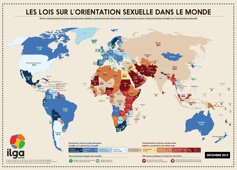 les lois sur l'orientation sexuelle dans le monde