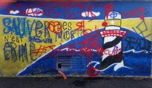 emmaüs, racisme, extrême-droite, anti-migrants, angers, tags